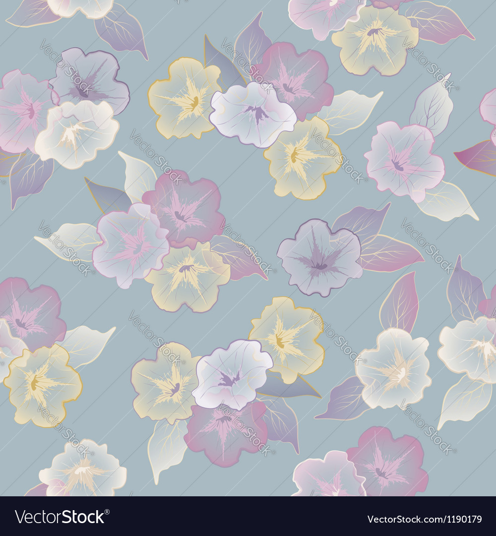 Floral seamless pattern with beautiful flowers vector   Price: 1 Credit (USD $1)