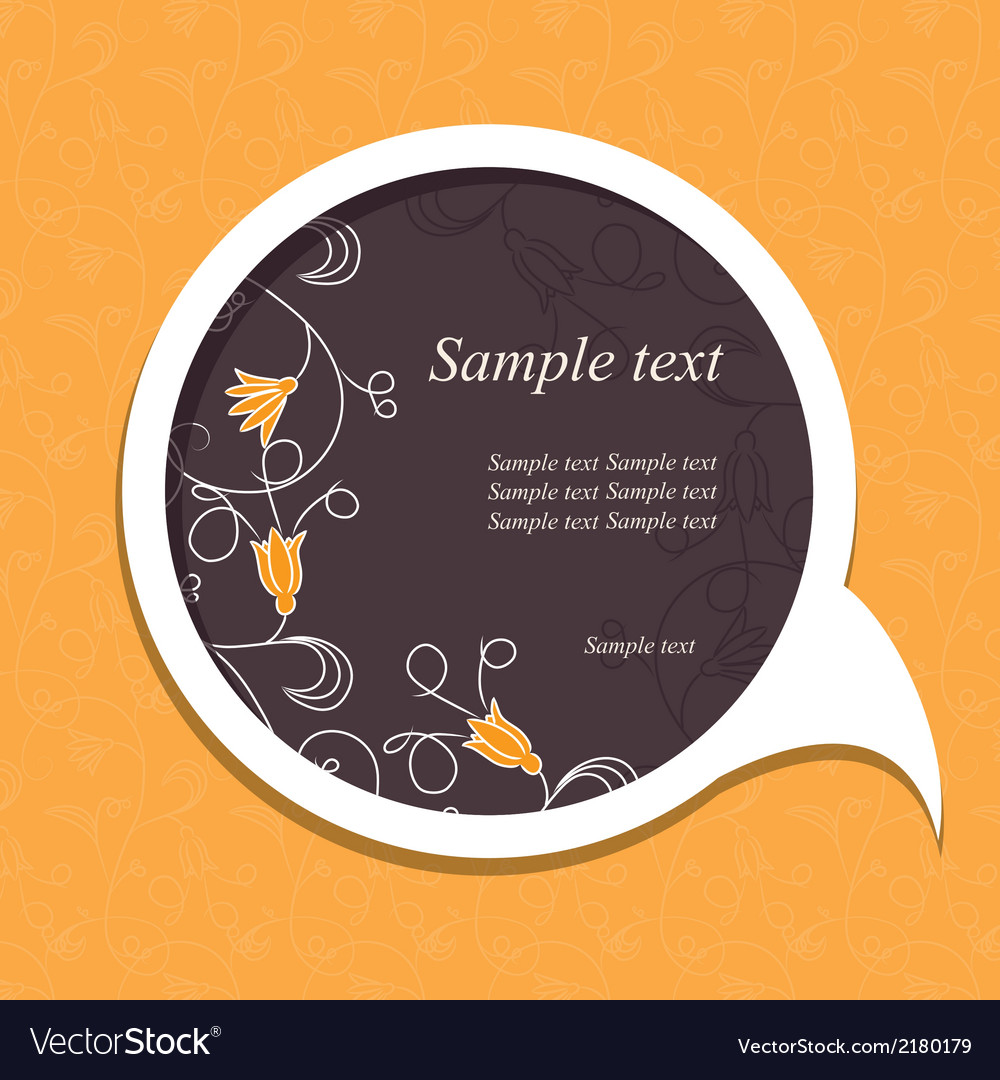 Floral speech bubble4 vector