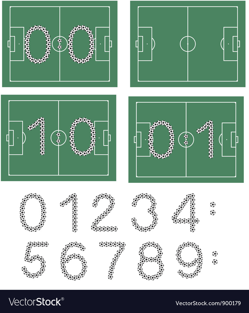 Football scores vector | Price: 1 Credit (USD $1)