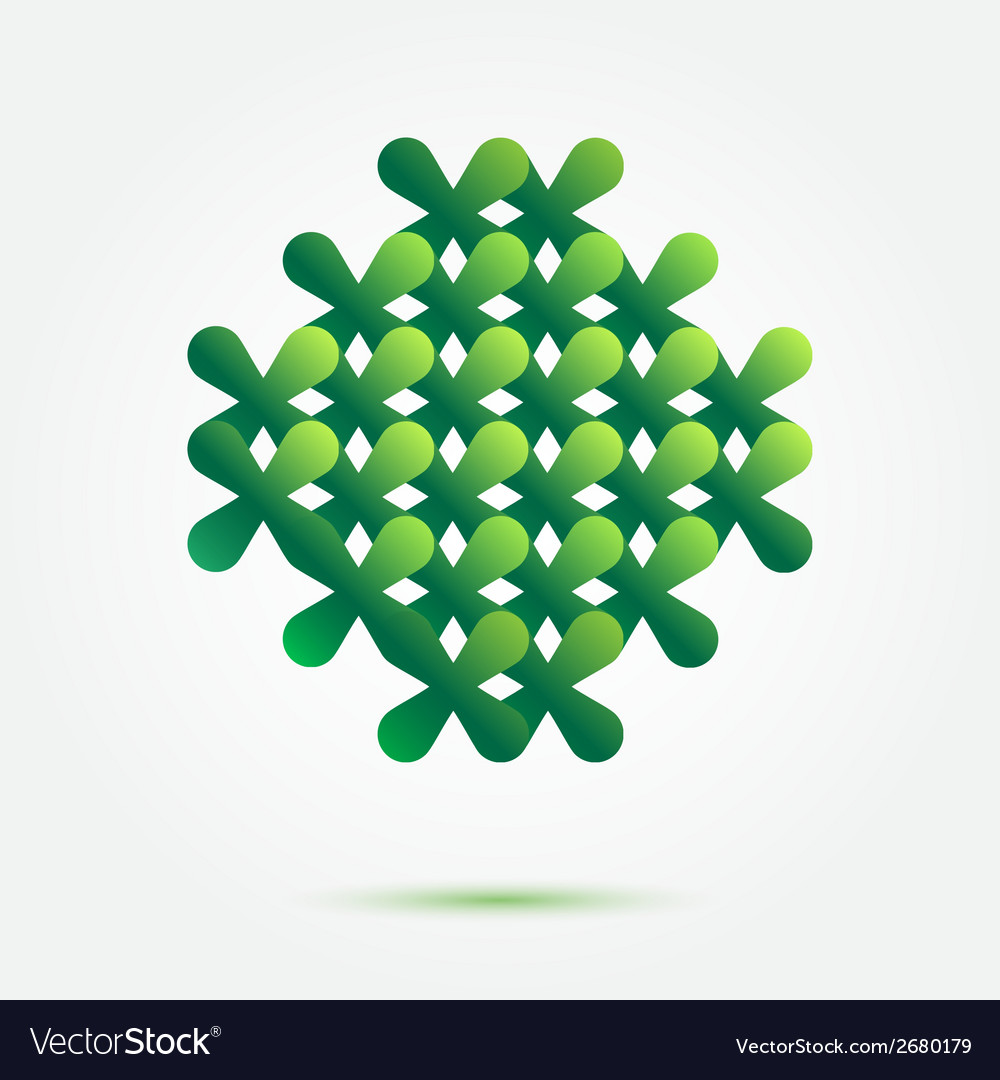 Green symbol made of crosses - nice abstract vector | Price: 1 Credit (USD $1)
