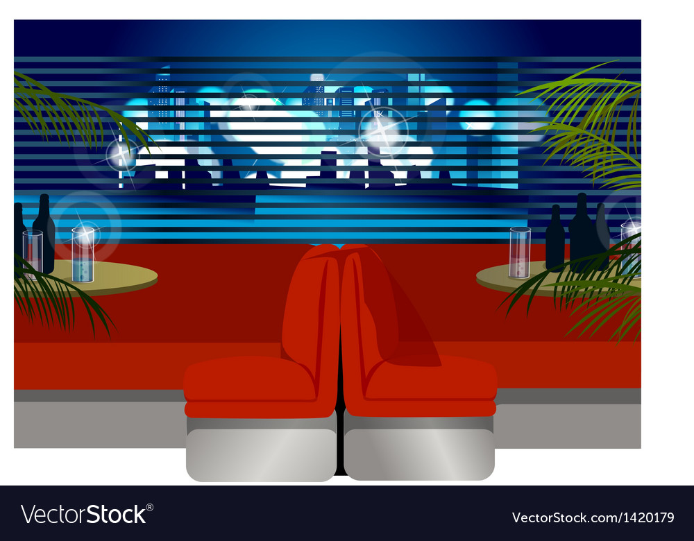 Interior modern cafe vector | Price: 1 Credit (USD $1)