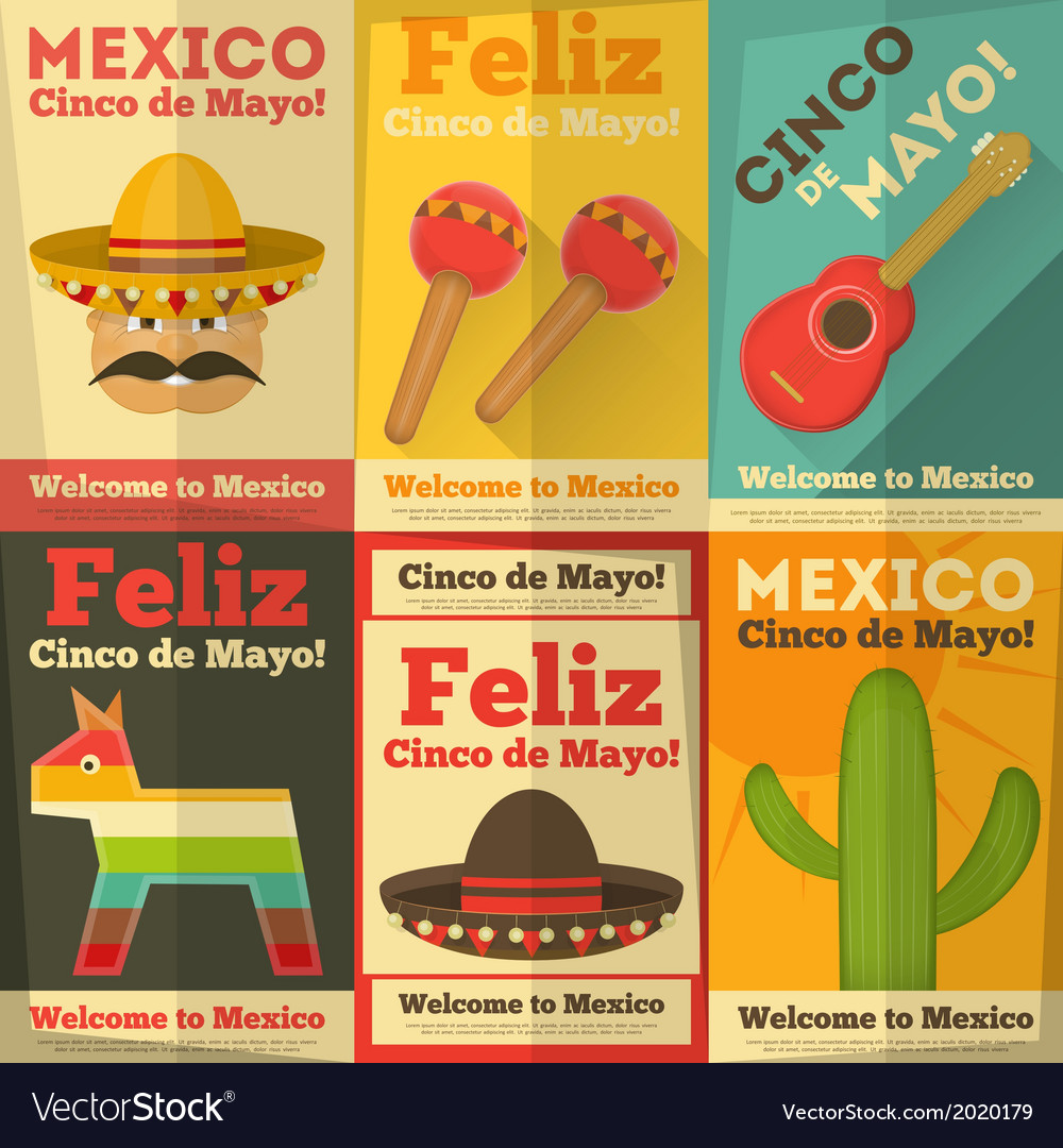 Mexico posters vector | Price: 1 Credit (USD $1)