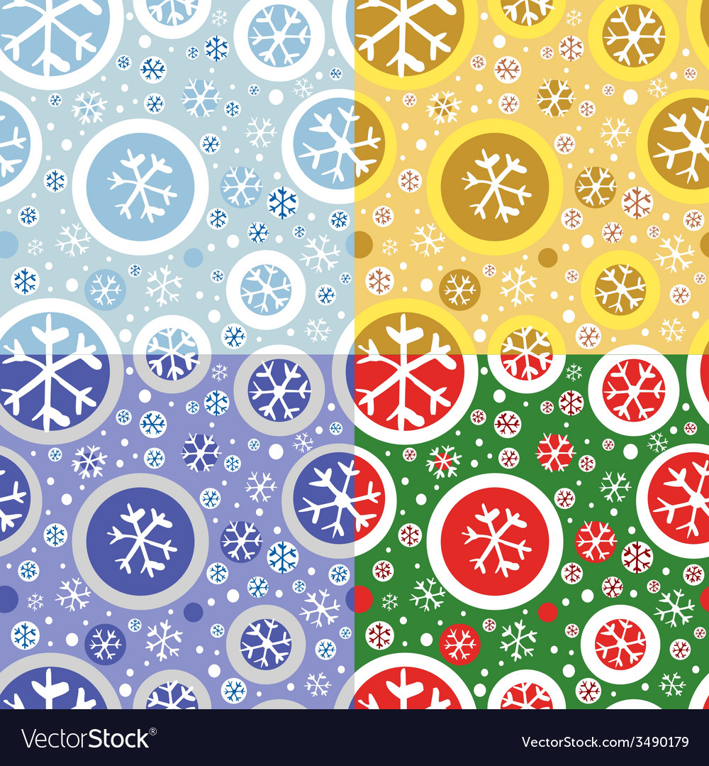 Pattern with snowflakes vector | Price: 1 Credit (USD $1)