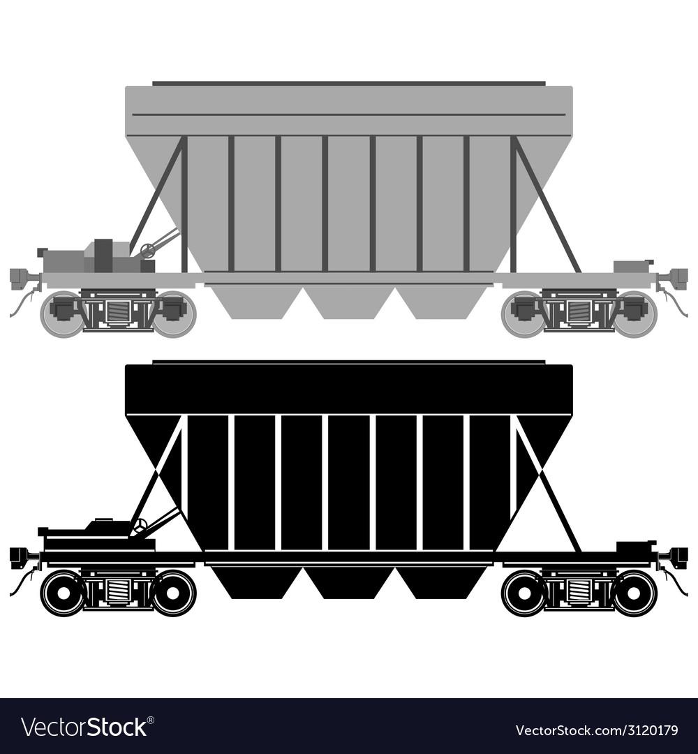 Railway carriage for bulk cargo-1 vector | Price: 1 Credit (USD $1)