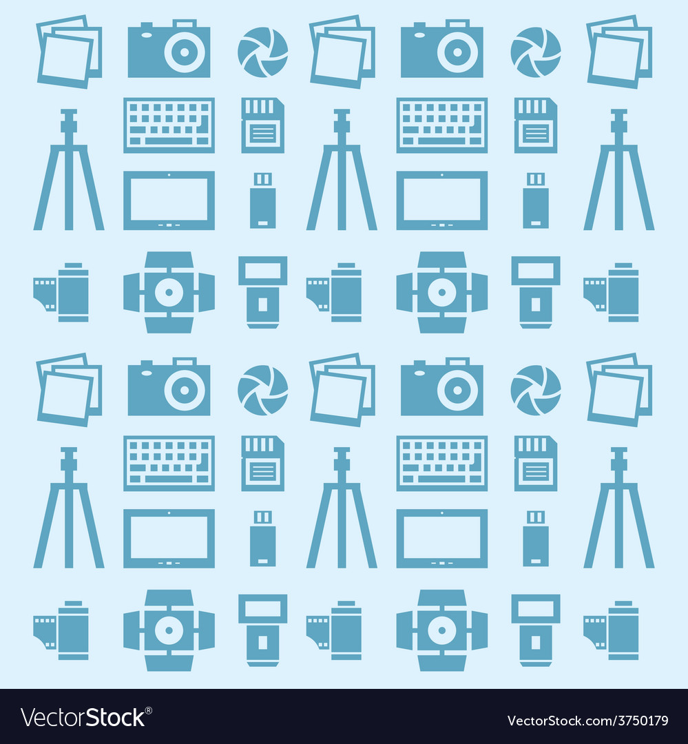 Seamless pattern photographer vector | Price: 1 Credit (USD $1)