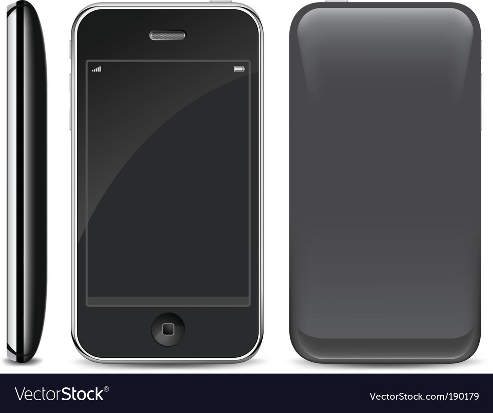Smart phone on white vector | Price: 1 Credit (USD $1)