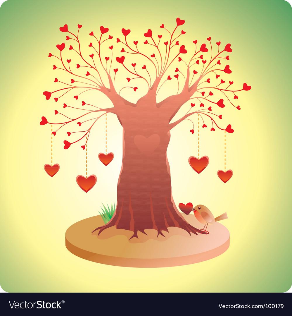 Valentines tree vector