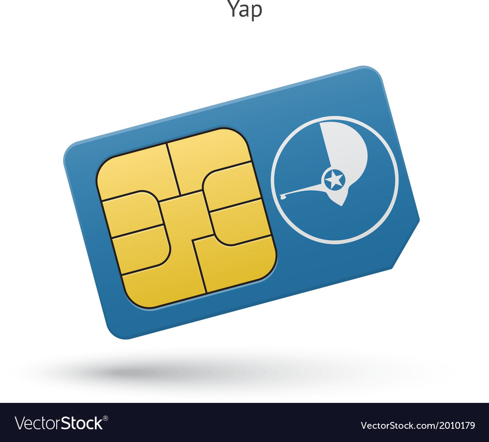Yap mobile phone sim card with flag vector | Price: 1 Credit (USD $1)