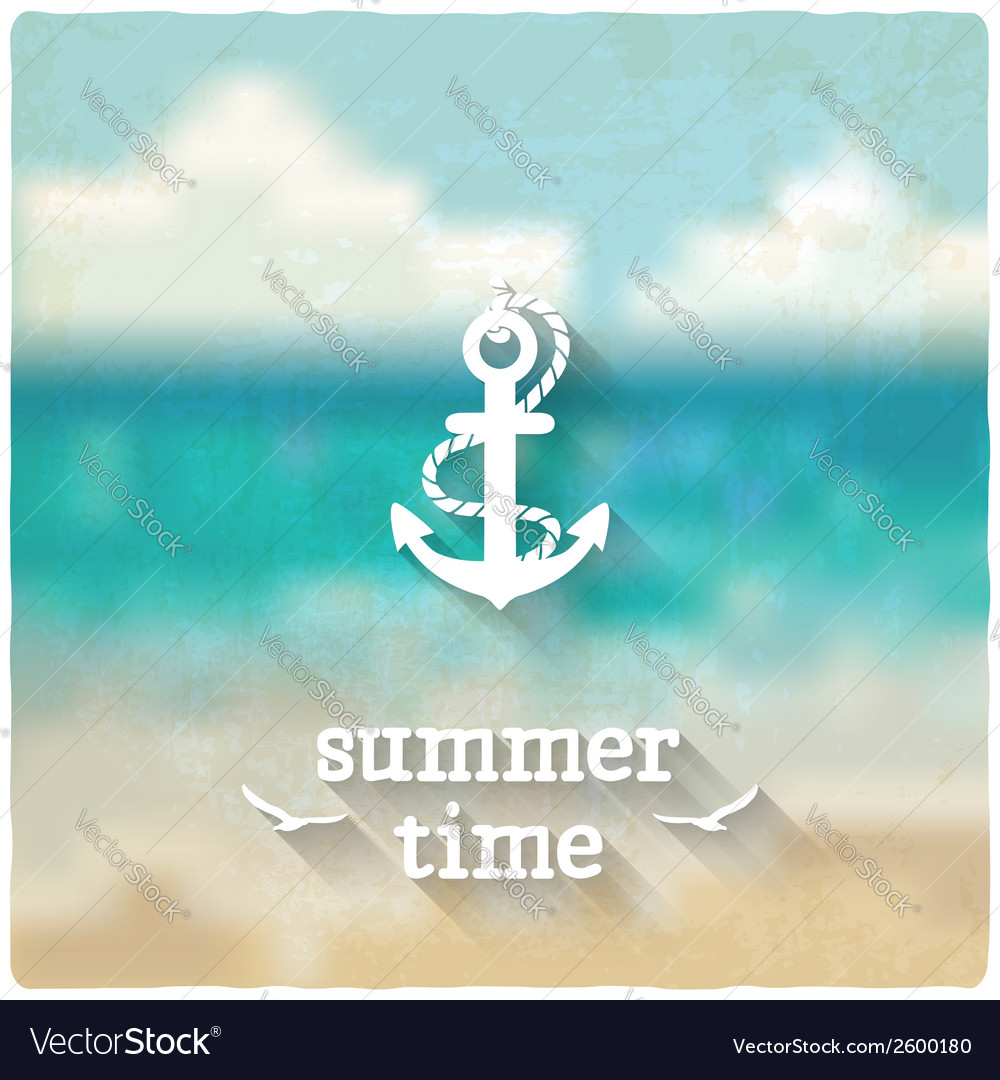 Anchor marine blurred background vector | Price: 1 Credit (USD $1)