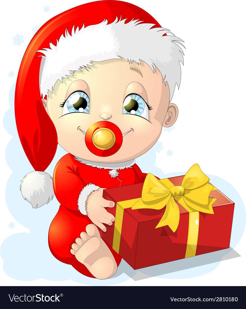 Baby santa vector | Price: 1 Credit (USD $1)