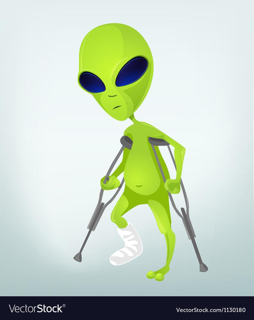 Cartoon injured alien vector | Price: 1 Credit (USD $1)