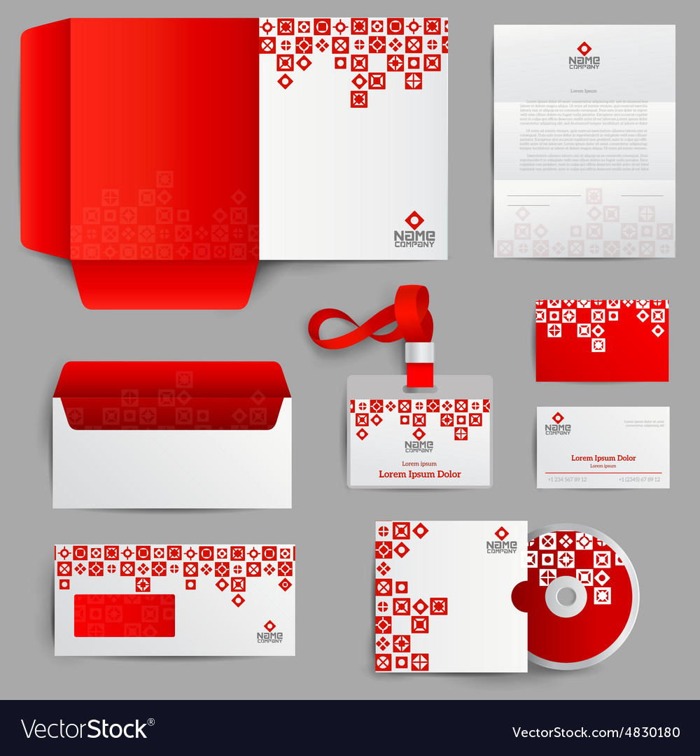 Corporate identity red vector