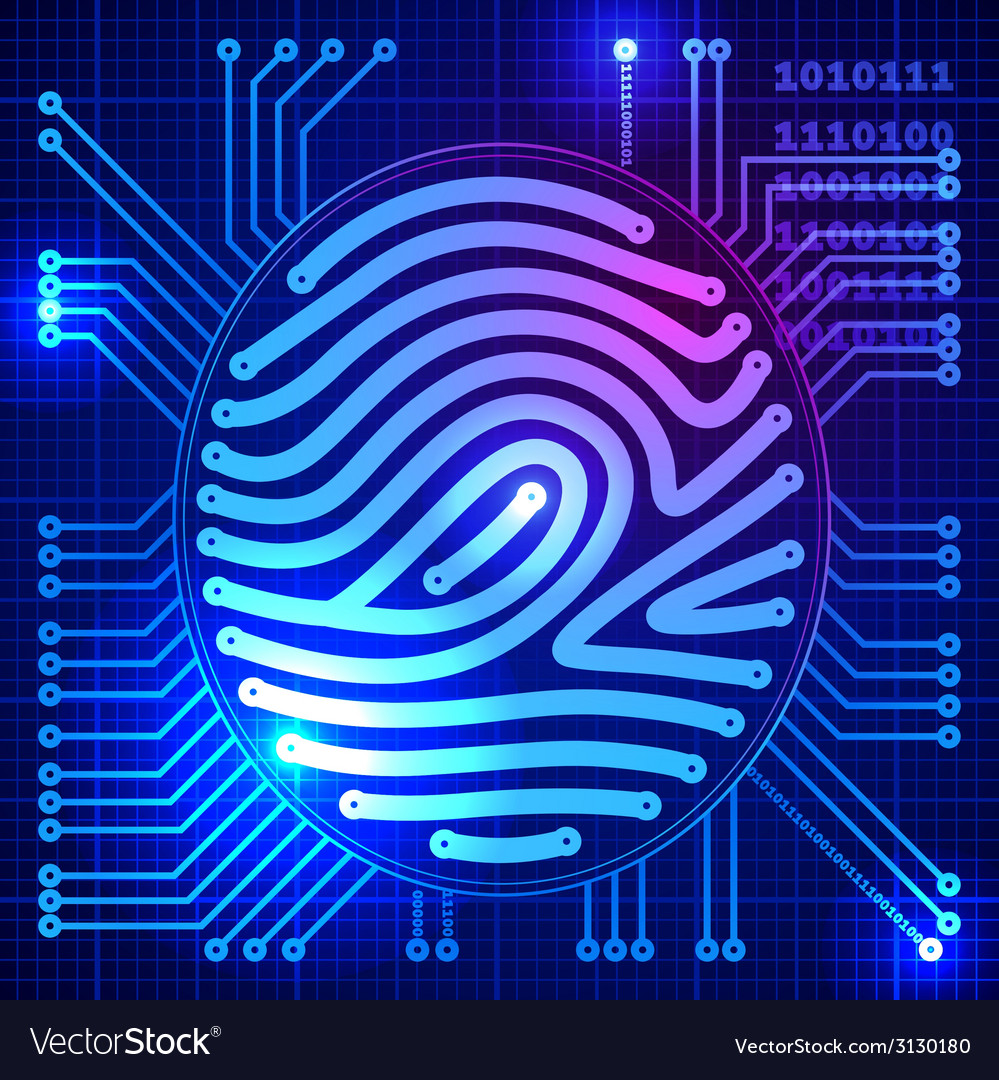 Fingerprint security system vector | Price: 1 Credit (USD $1)