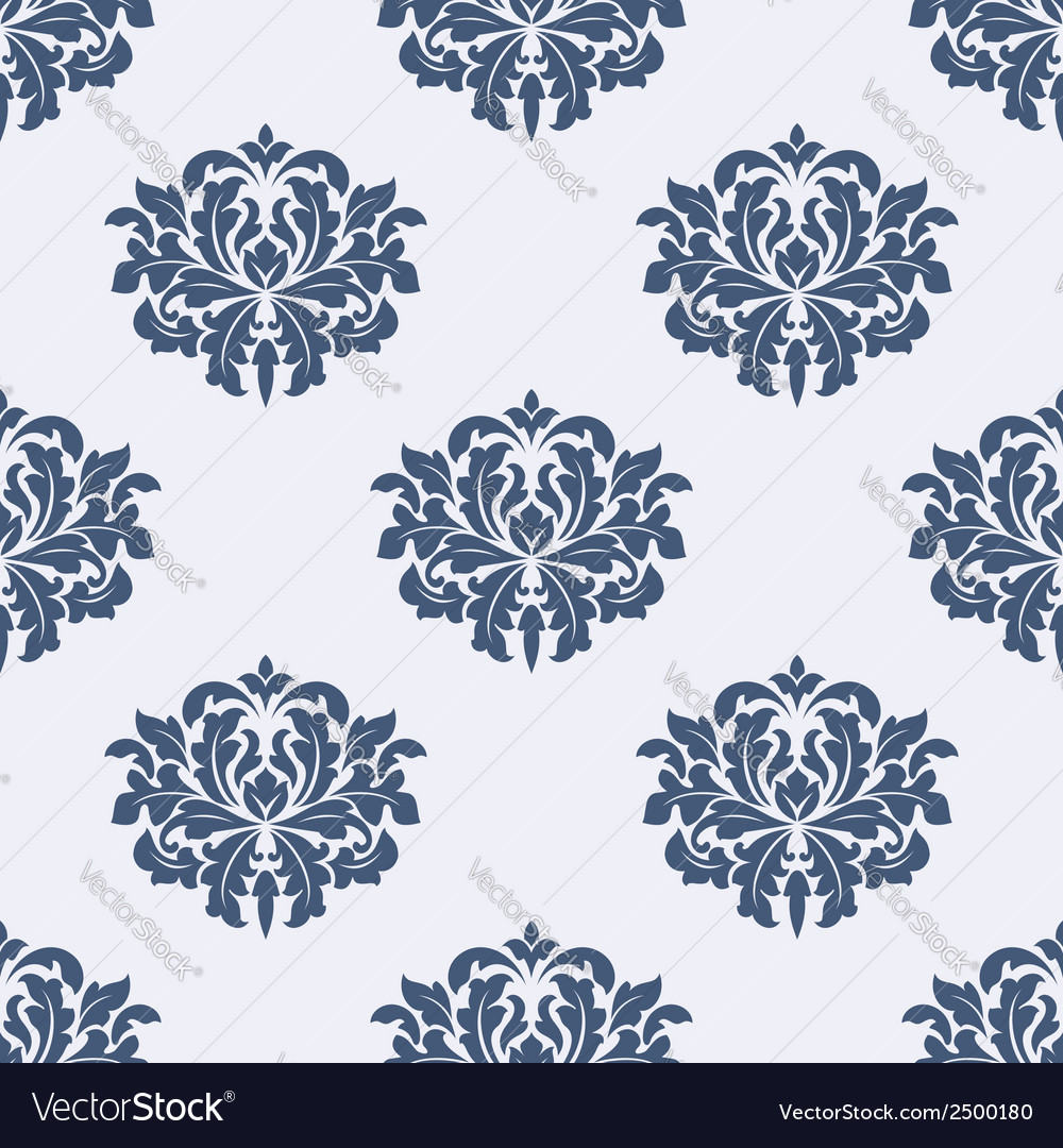 Floral seamless damask pattern vector | Price: 1 Credit (USD $1)