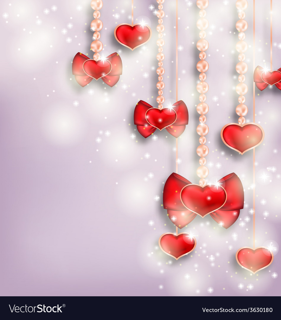 Glowing background with hanging hearts for vector | Price: 1 Credit (USD $1)