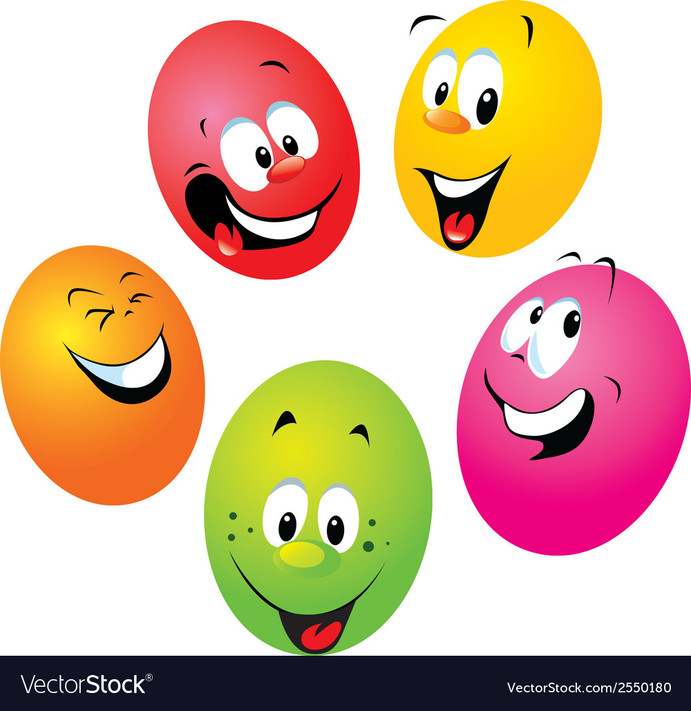 Happy easter eggs vector | Price: 1 Credit (USD $1)