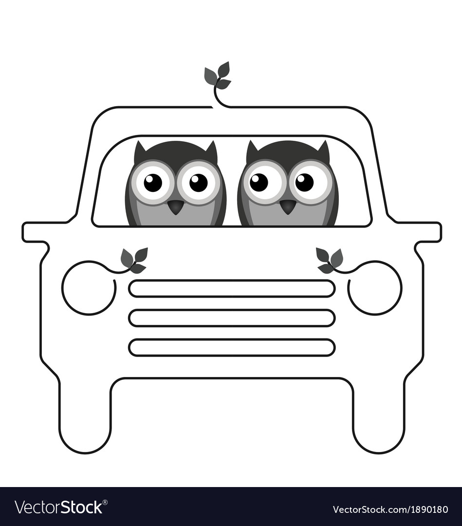 Owl car vector | Price: 1 Credit (USD $1)