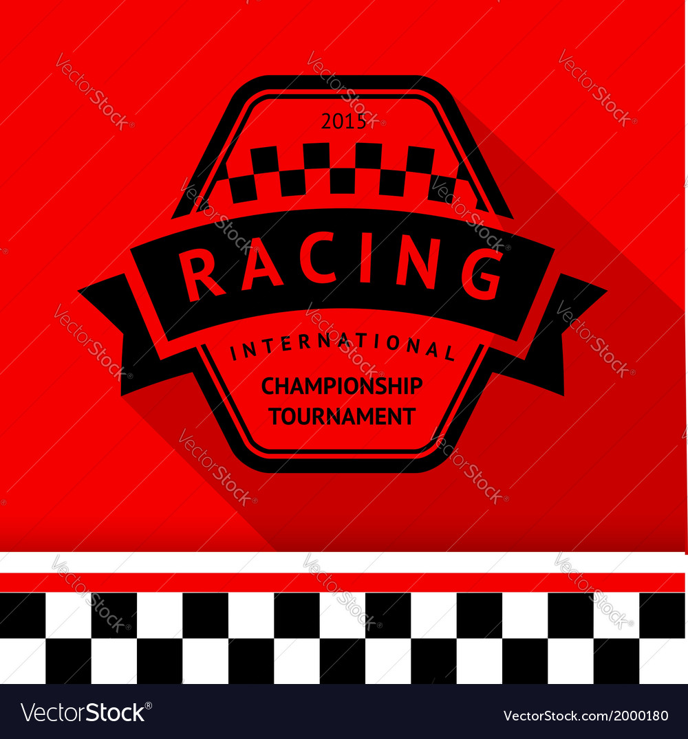 Racing stamp-09 vector | Price: 1 Credit (USD $1)