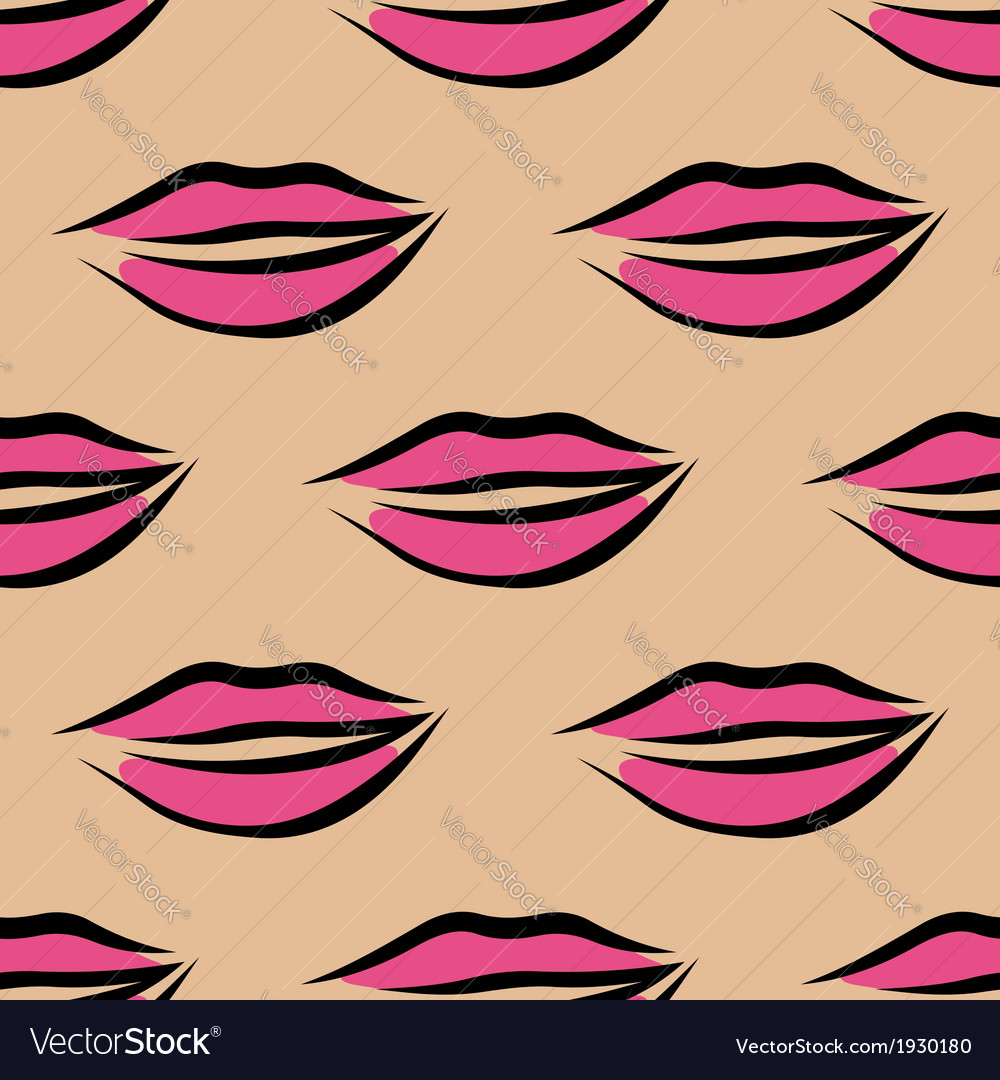 Repeat seamless pattern of sexy pink lips vector   Price: 1 Credit (USD $1)