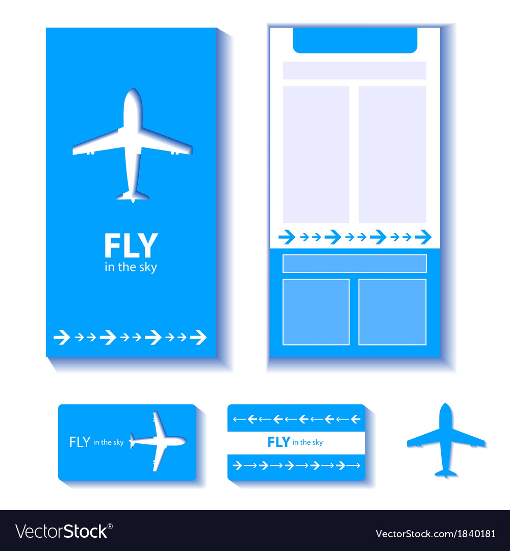 Airplane corporate identity vector | Price: 1 Credit (USD $1)