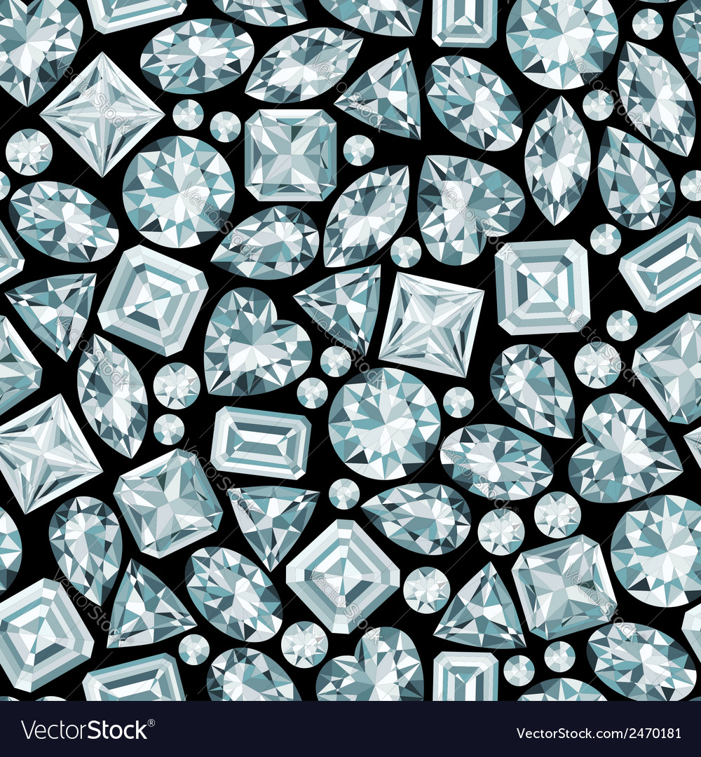 Black background with diamonds seamless pattern vector | Price: 1 Credit (USD $1)