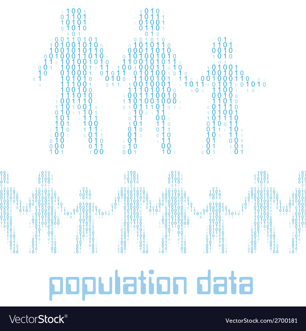 Digital people family group data vector | Price: 1 Credit (USD $1)