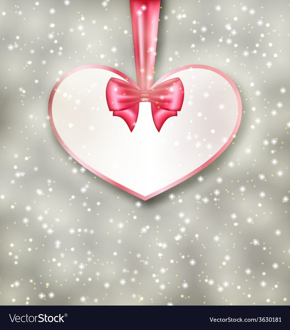 Greeting paper card made of heart shape valentine vector | Price: 1 Credit (USD $1)