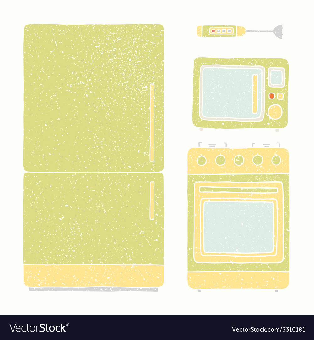 Kitchen appliances set vector | Price: 1 Credit (USD $1)