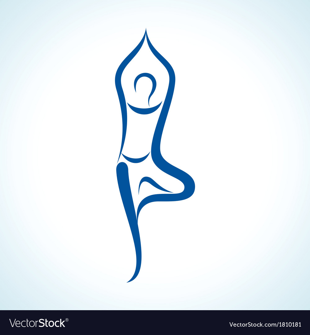 Stylized yoga pose vector | Price: 1 Credit (USD $1)