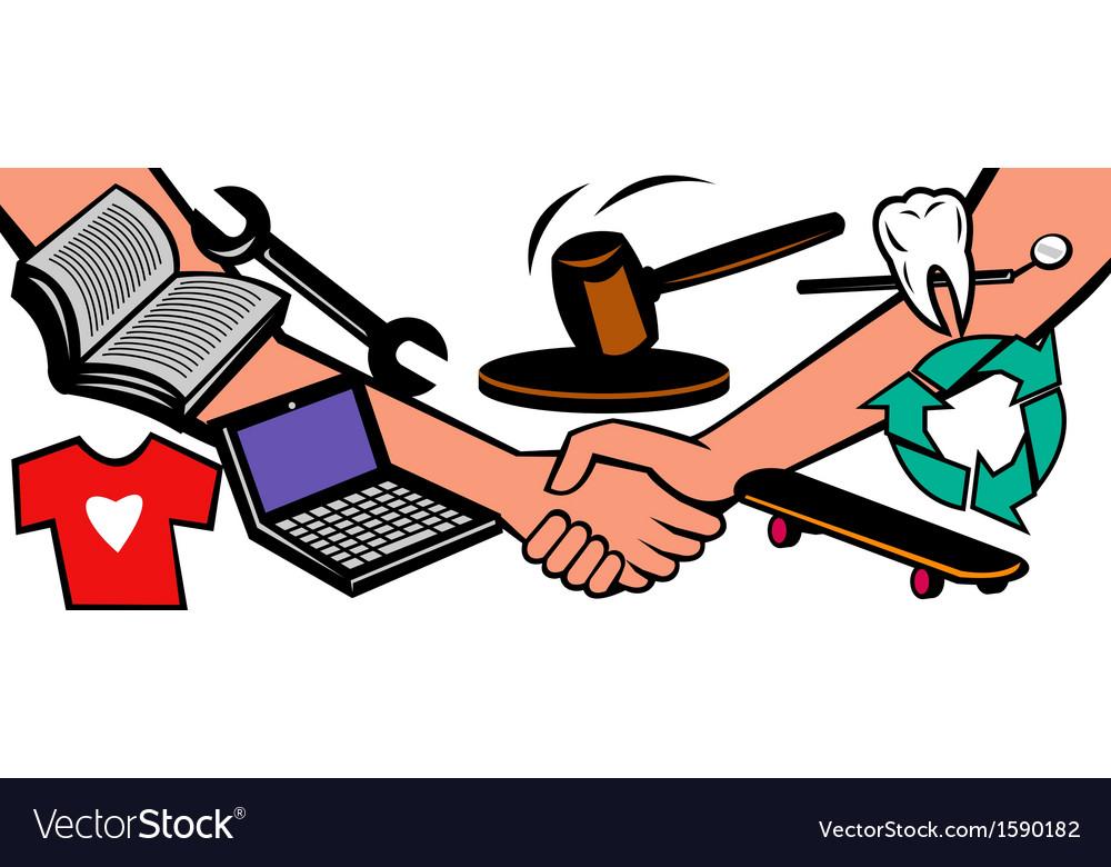 Auction items handshake deal swap exchange vector | Price: 1 Credit (USD $1)