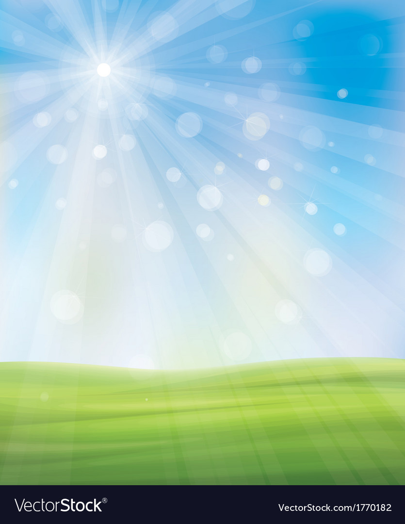 Background sky grass vector | Price: 1 Credit (USD $1)