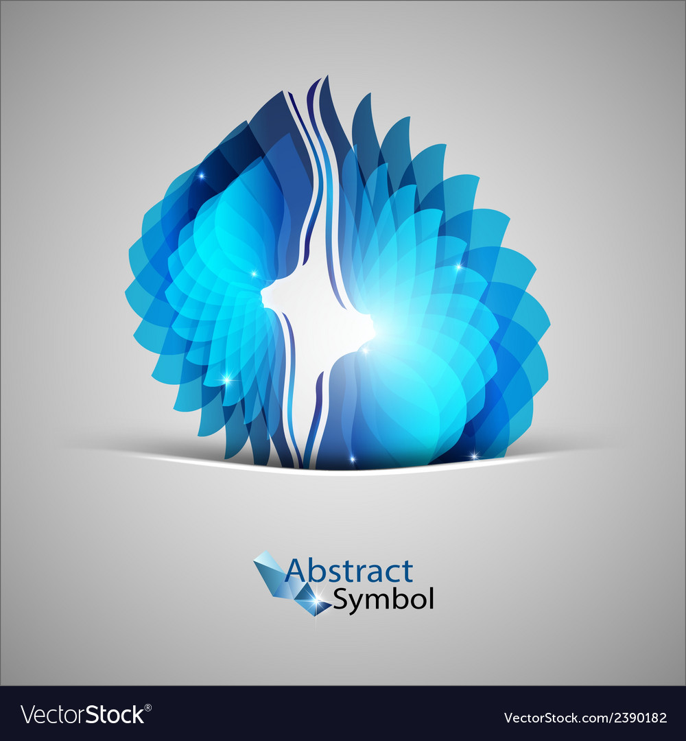 Blue shape vector | Price: 1 Credit (USD $1)