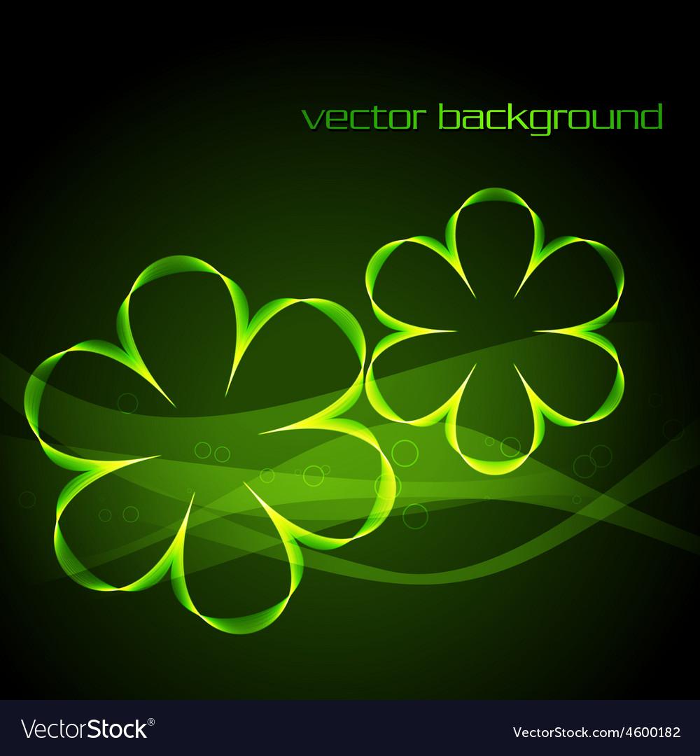Glowing green digital flower vector | Price: 1 Credit (USD $1)