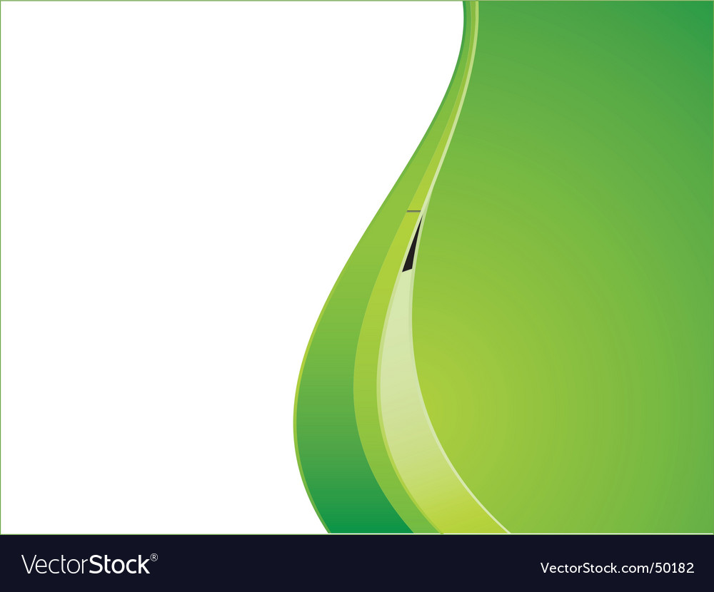Green ecology wave background template vector | Price: 1 Credit (USD $1)