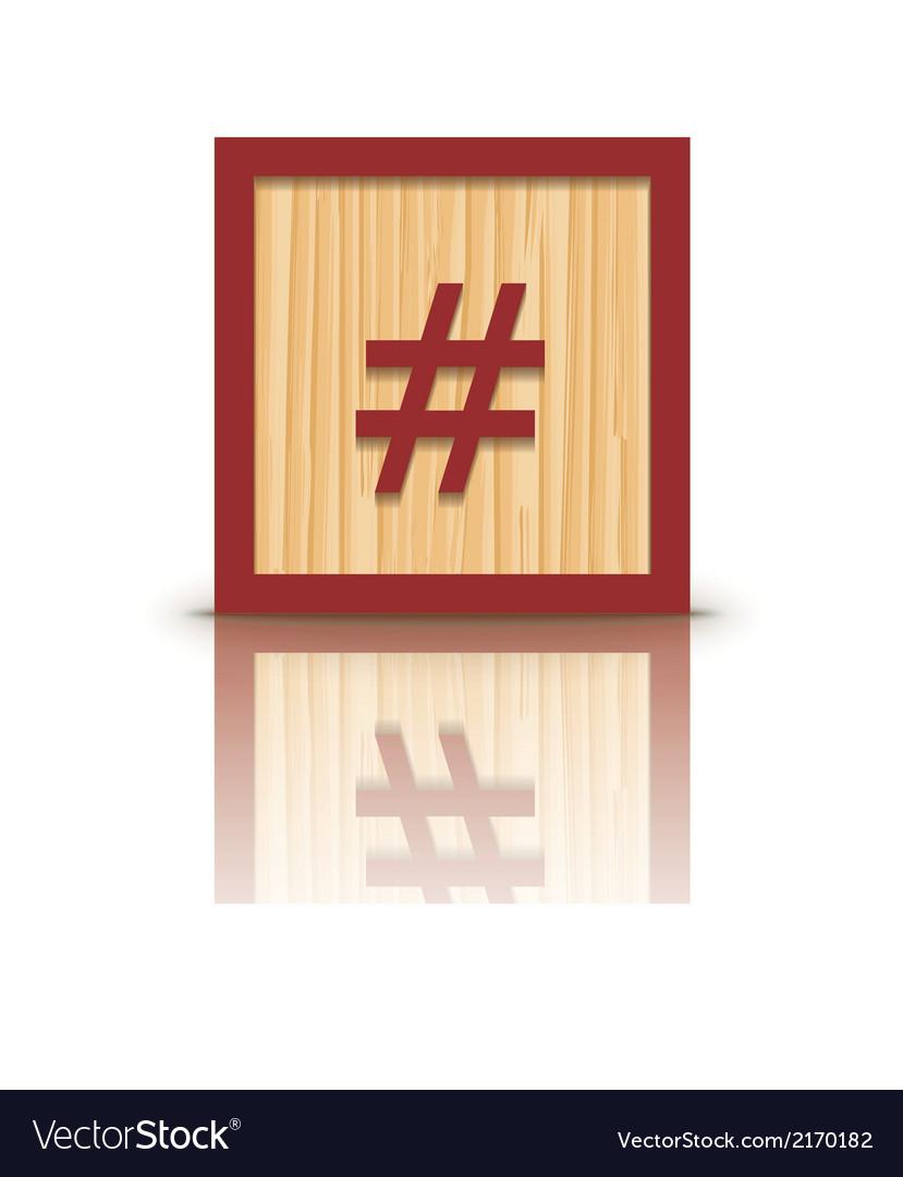 Grid sign wooden alphabet block vector | Price: 1 Credit (USD $1)