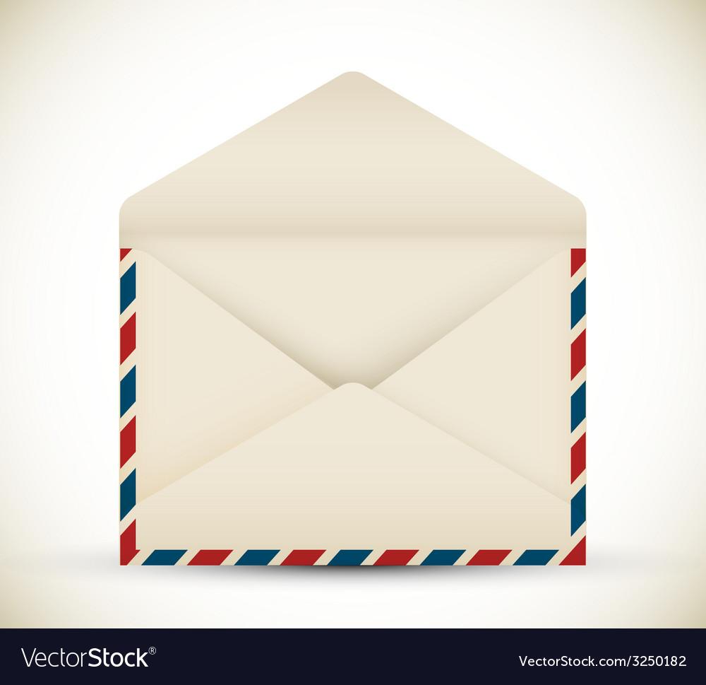 Open vintage envelope vector | Price: 1 Credit (USD $1)