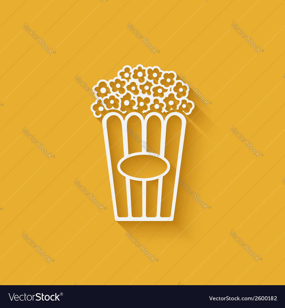 Popcorn design element vector | Price: 1 Credit (USD $1)