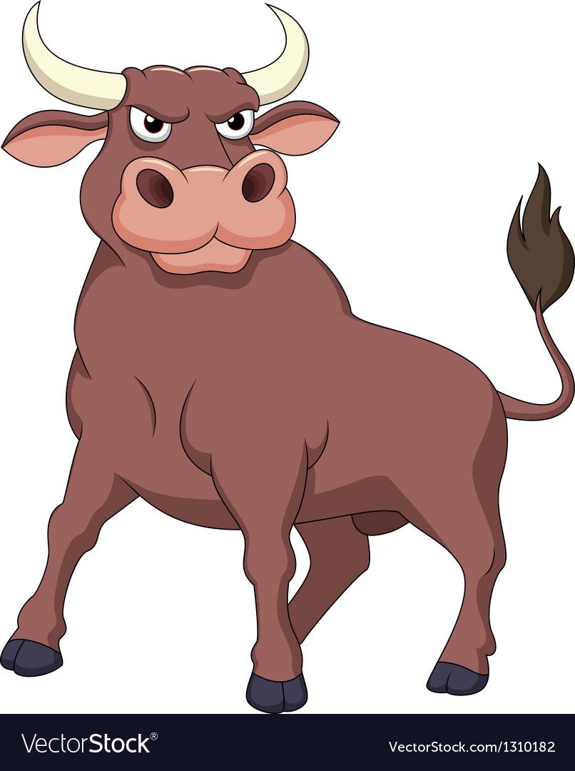 Strong bull cartoon vector | Price: 1 Credit (USD $1)