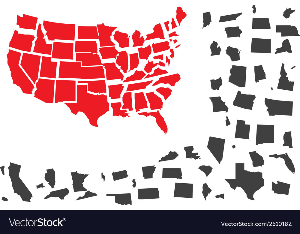Usa puzzle vector | Price: 1 Credit (USD $1)
