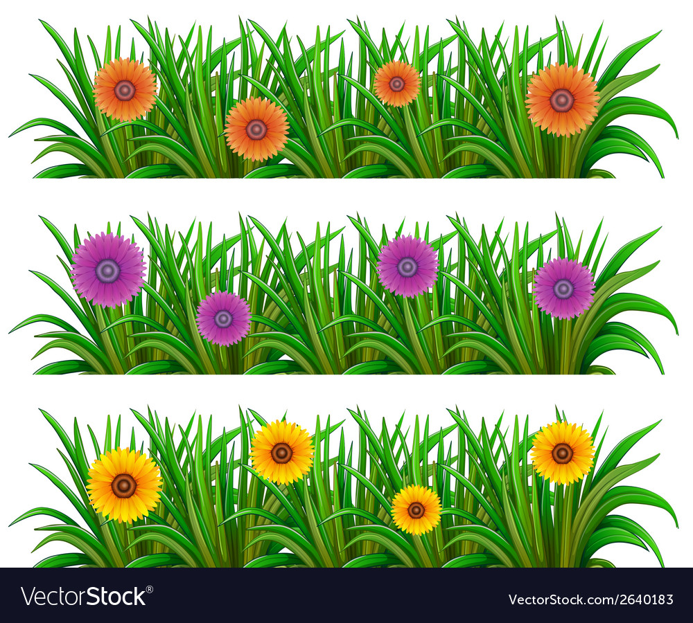 A floral garden vector | Price: 1 Credit (USD $1)