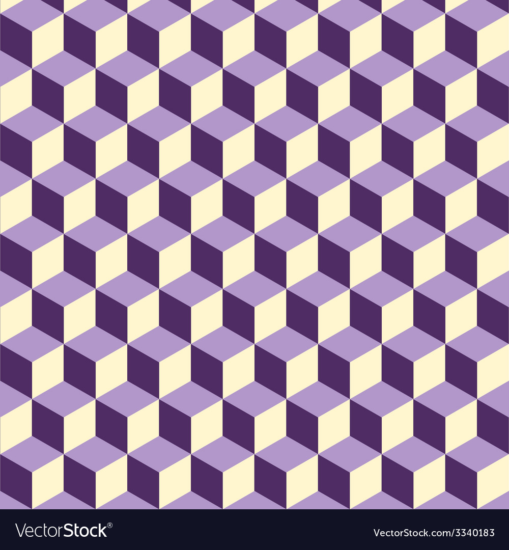 Abstract isometric violet cube pattern background vector | Price: 1 Credit (USD $1)