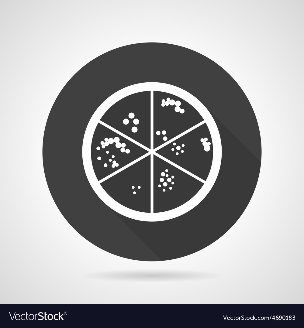 Bacteria colonies black round icon vector | Price: 1 Credit (USD $1)