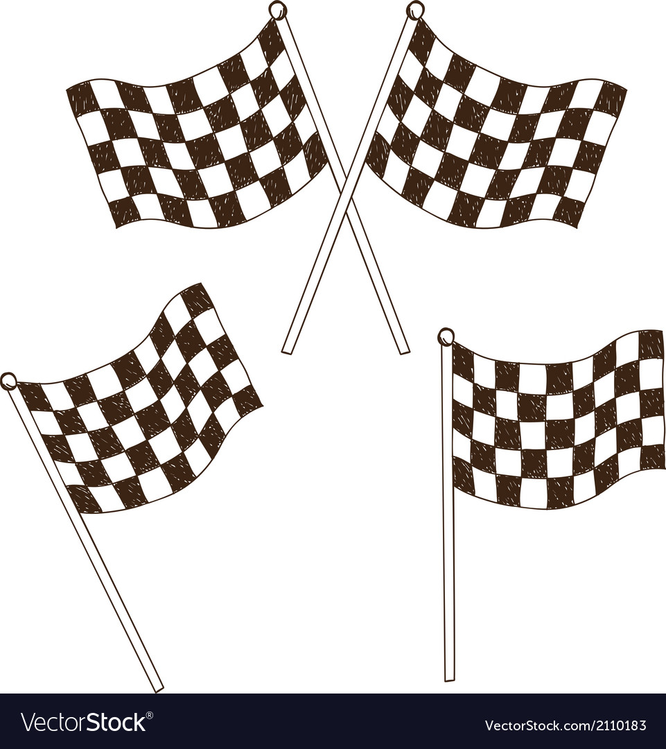 Checkered flag drawing vector | Price: 1 Credit (USD $1)