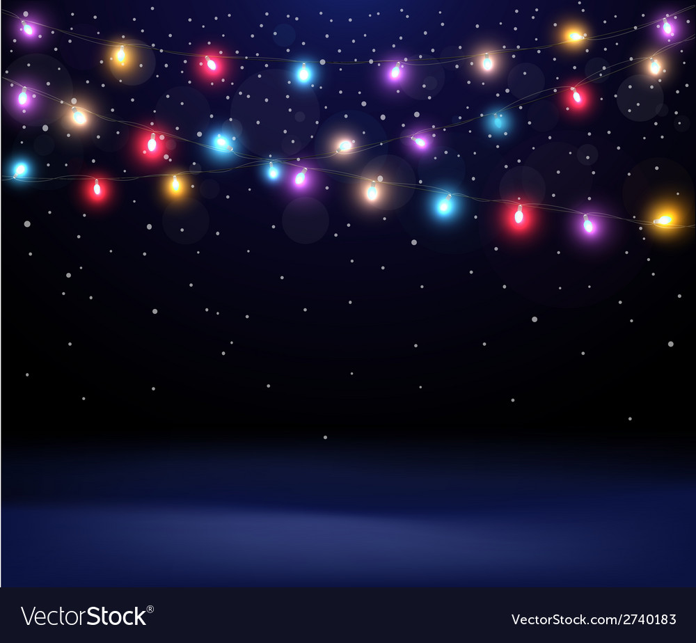 Christmas light background vector | Price: 1 Credit (USD $1)