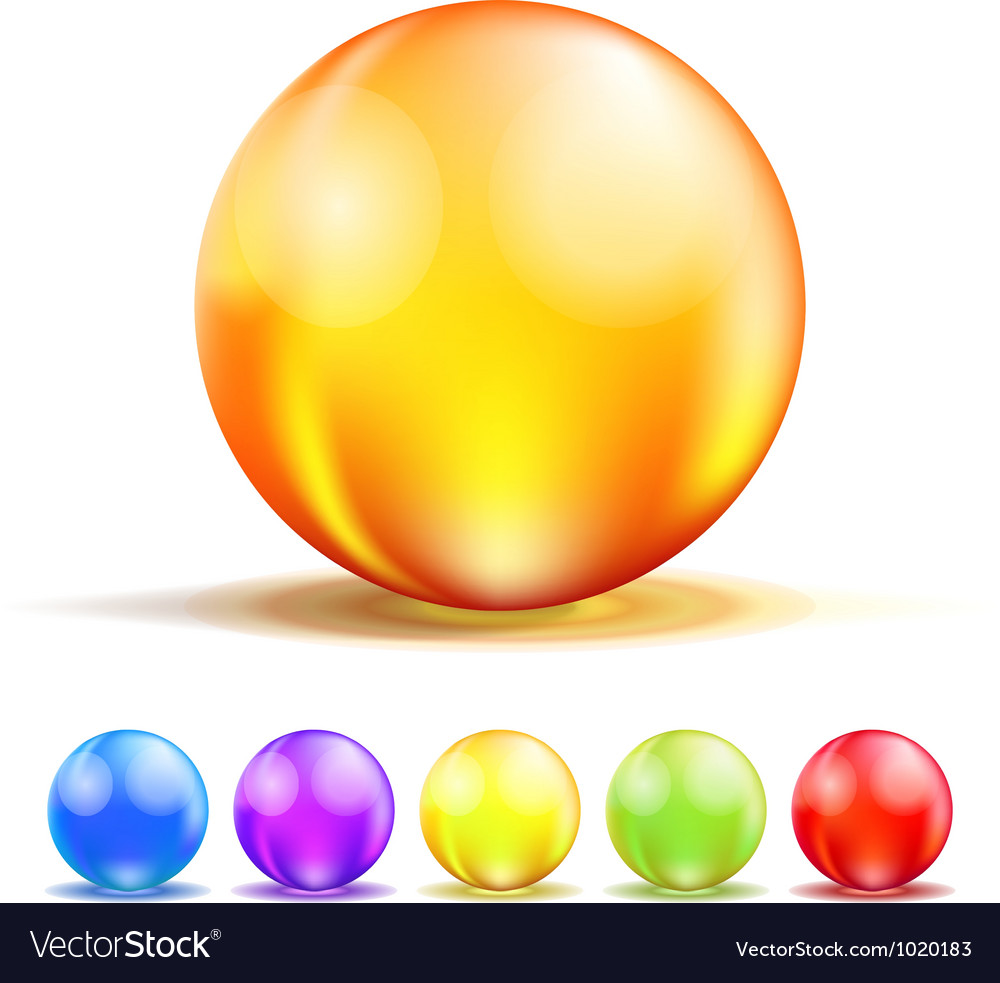 Color glass balls vector | Price: 1 Credit (USD $1)