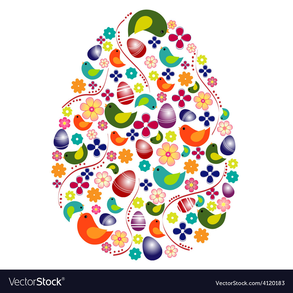 Colorful egg shape vector | Price: 1 Credit (USD $1)