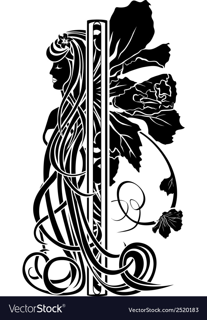 Decorative element in the art nouveau style vector | Price: 1 Credit (USD $1)