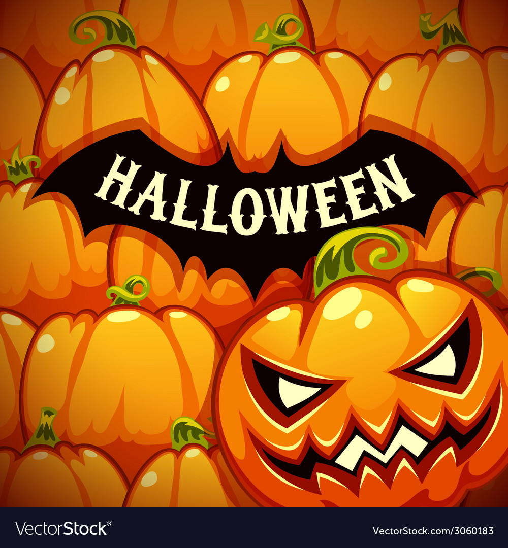 Halloween poster with bat silhouette on the vector | Price: 3 Credit (USD $3)