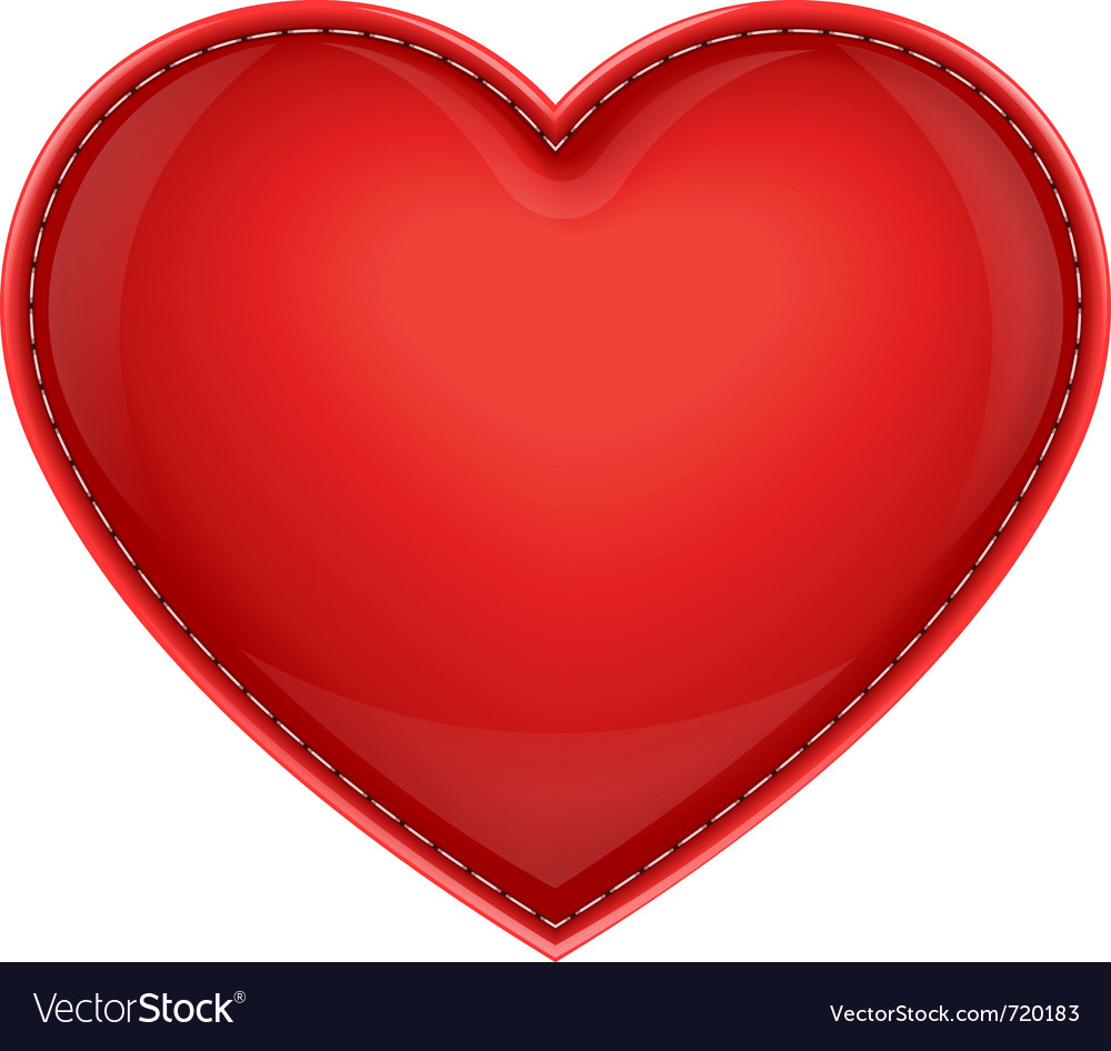 Leather pillow heart vector | Price: 1 Credit (USD $1)