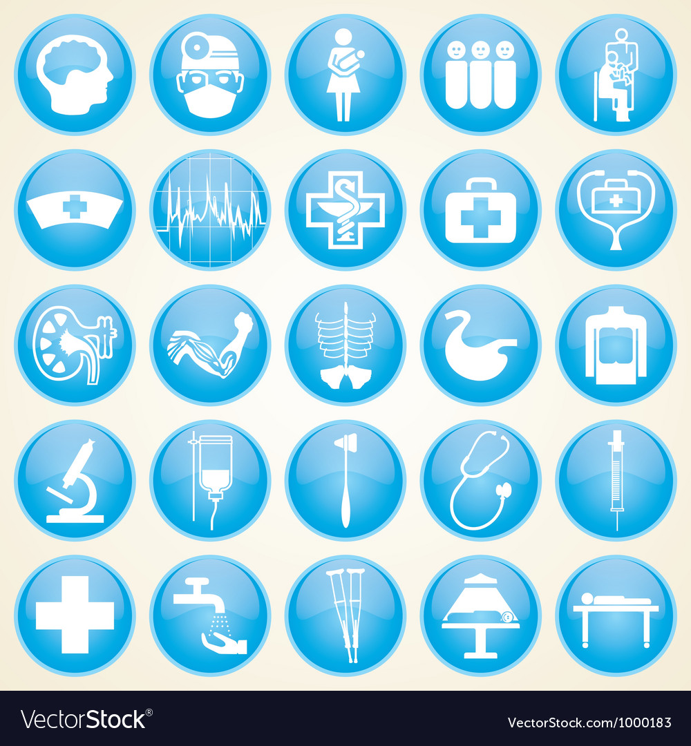Medical icons collection vector | Price: 1 Credit (USD $1)